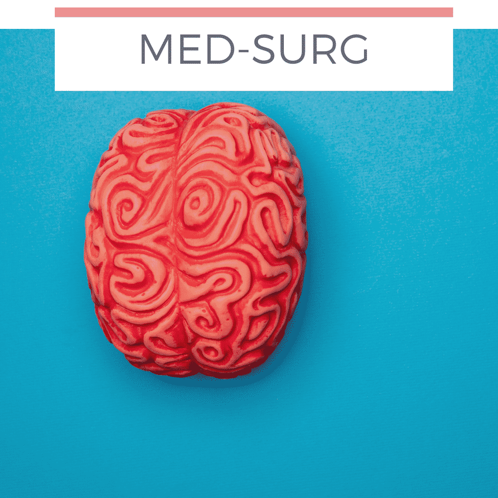 image of brain on blue background