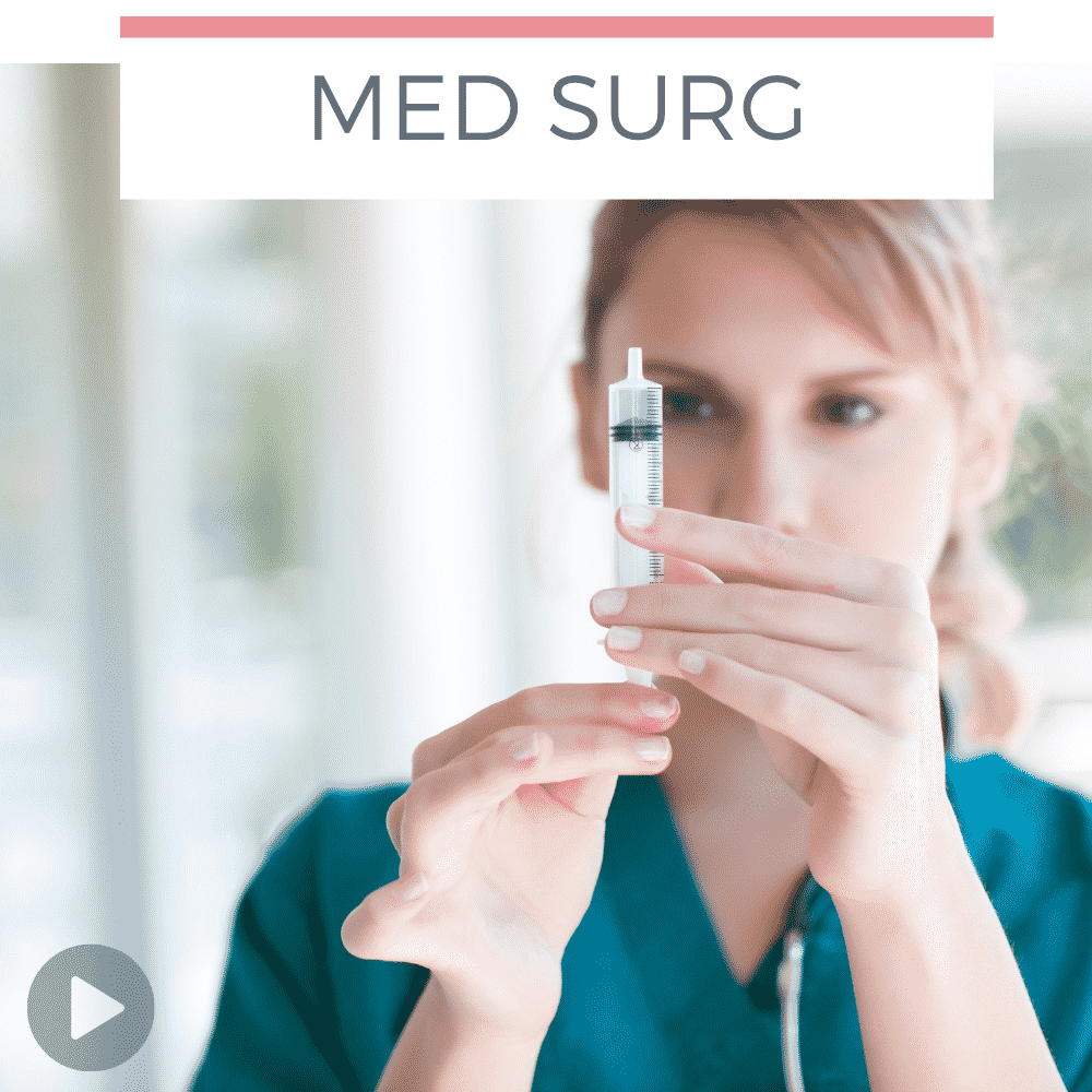 Tips for studying med surg in nursing school