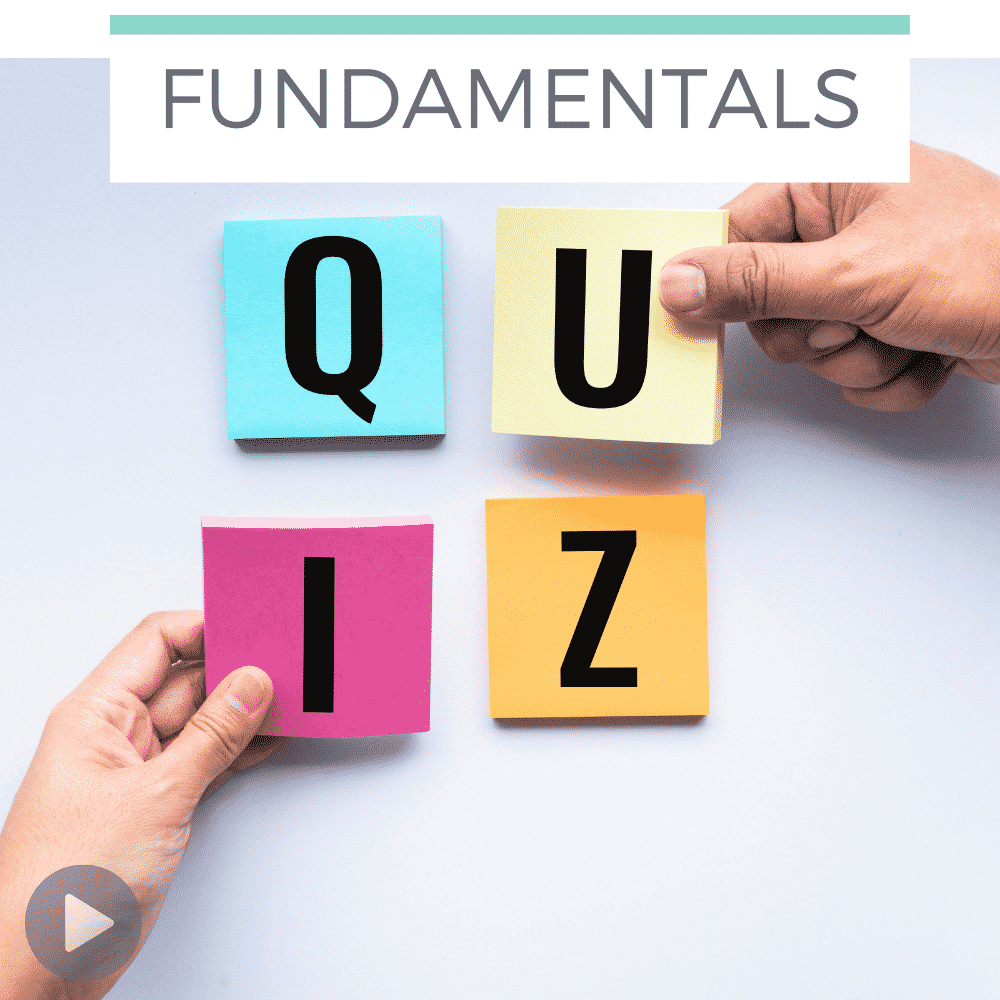 the word QUIZ in bright letters