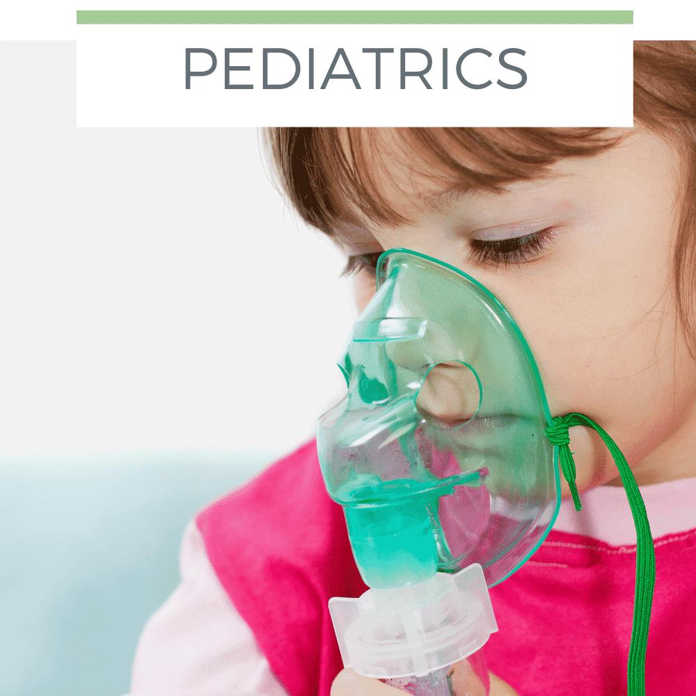 child using oxygen mask